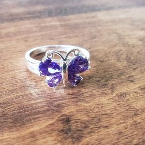 Butterfly Ring/Purple Butterfly Ring